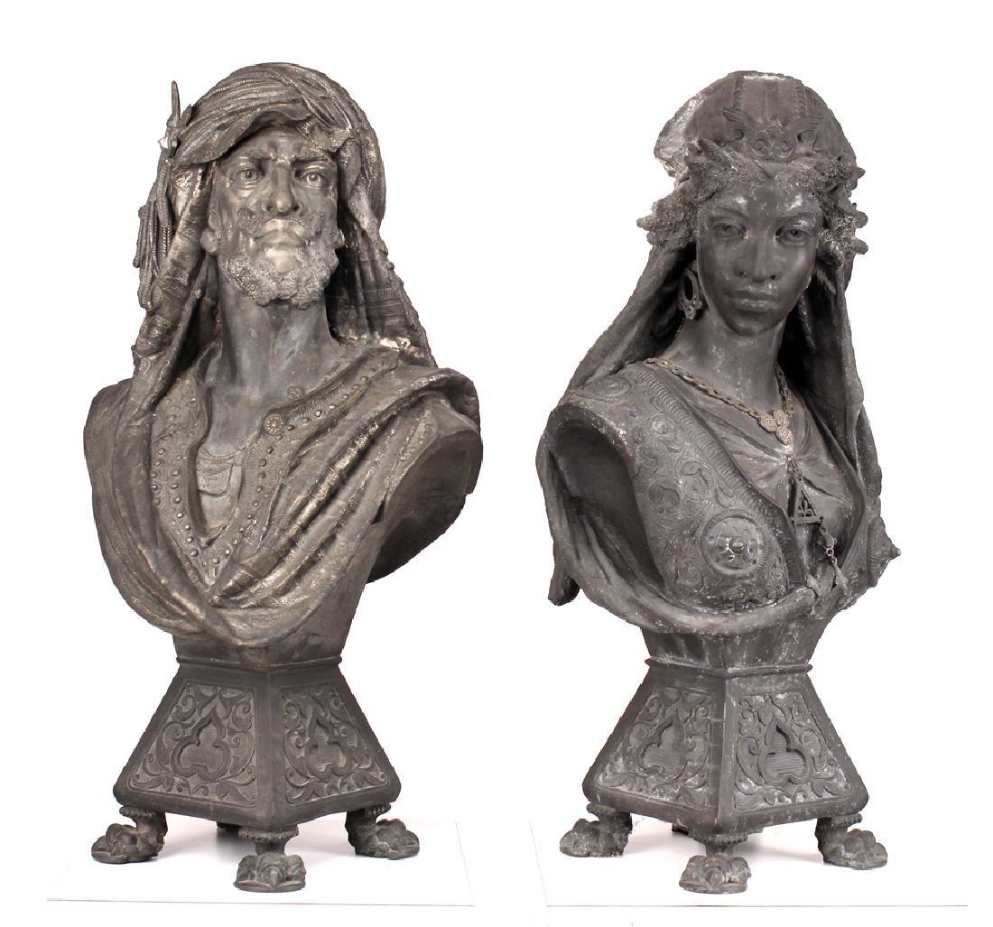French Moorish Busts