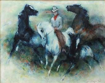 Denis V. Holeget (Italian 20th C.)  Oil on Canvas