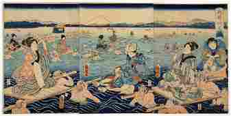 Kuniaki II (Japanese 1835-1888) Woodblock Print