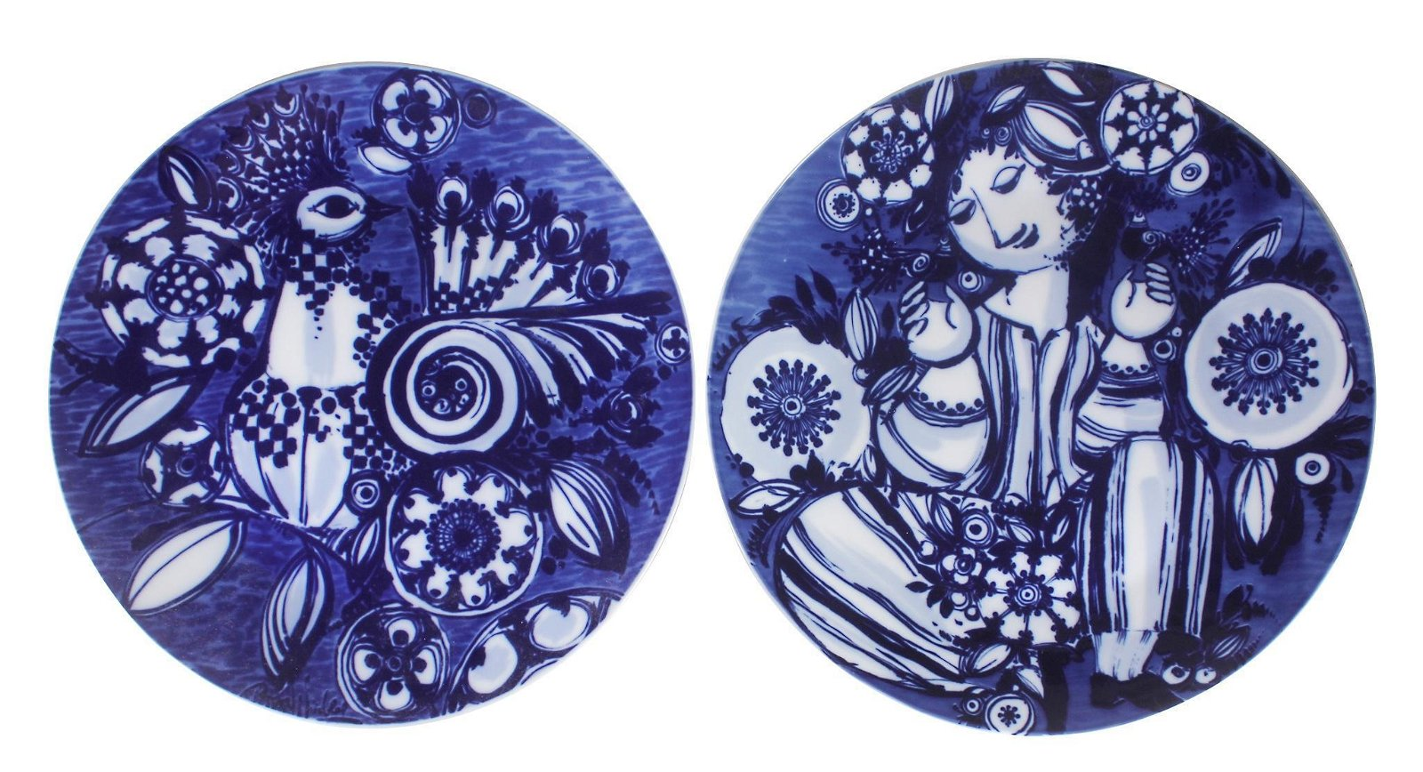 Two Rosenthal Bjorn Wiinblad Porcelain Chargers