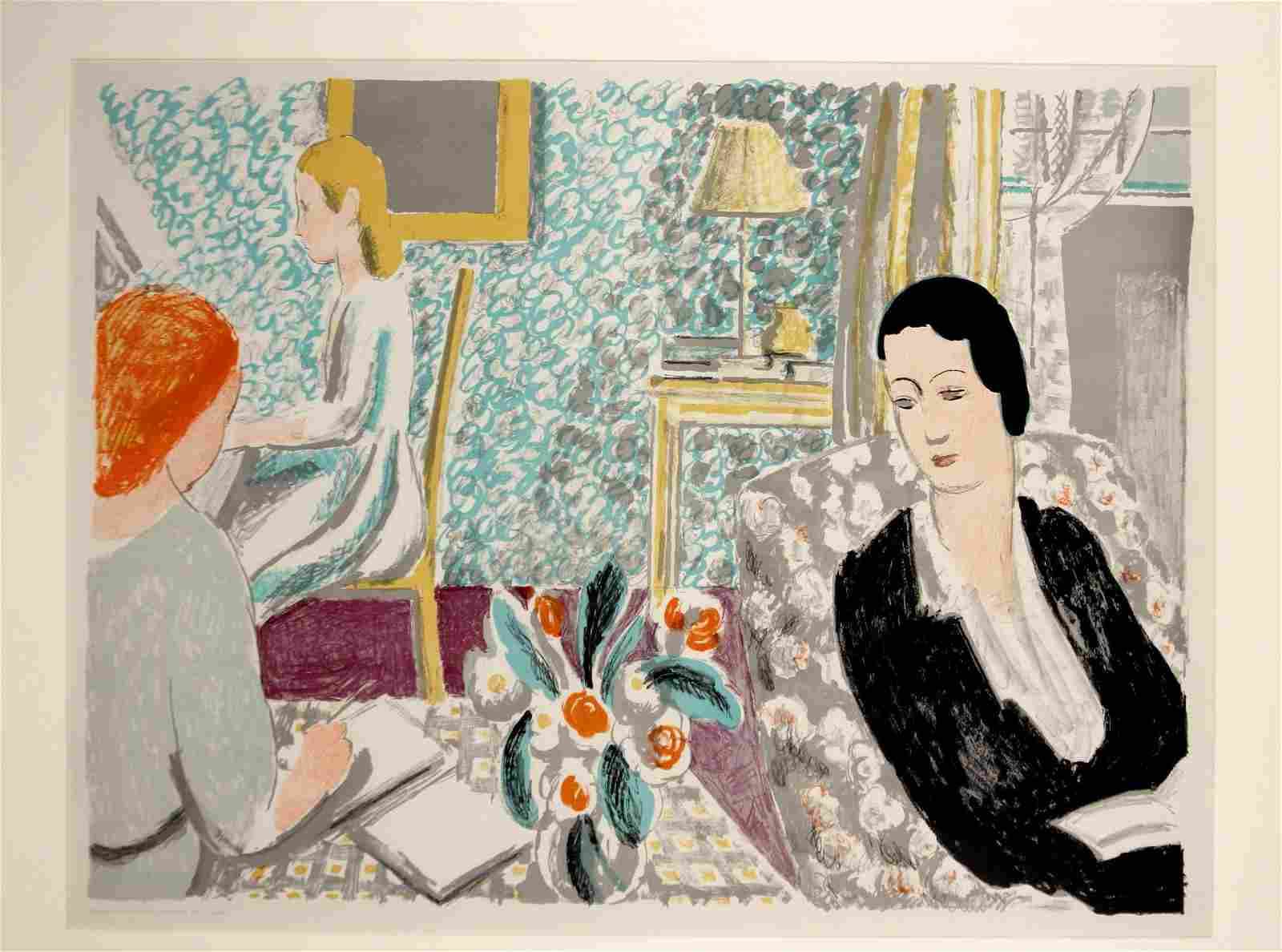 Vanessa Bell (British 1879-1961) Color Lithograph The
