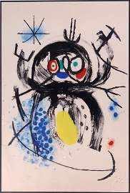 Joan Miro (Spanish 1893-1983) Color Lithograph
