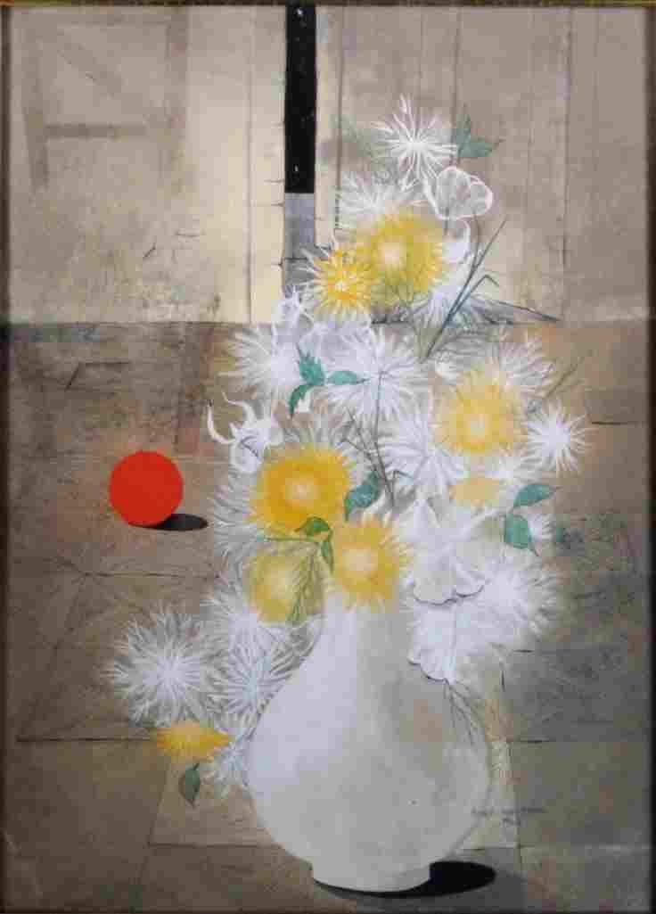 Roger Flynn (American 1931-2011) Watercolor on Board