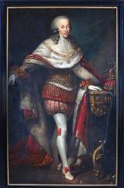 Italian 18th C.Oil on Canvas Portrait of King Victor