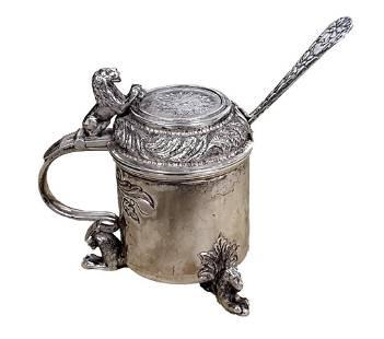Prussian .830 Silver Salt Cellar
