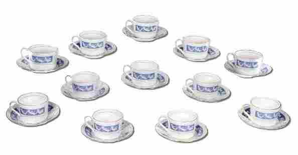 Twelve Coalport Revelry English Bone China Tea Cups and