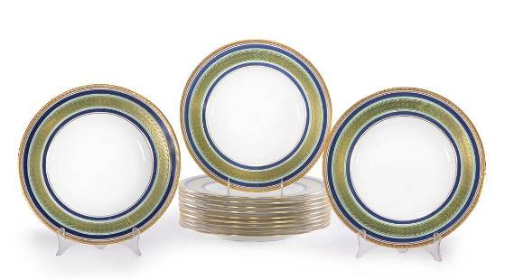 Set of 12 Plates by Minton's for Tiffany & Co.