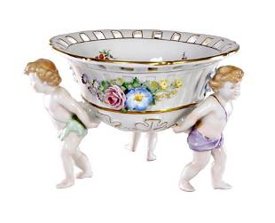 German von Shierholz Porcelain Centerpiece Bowl