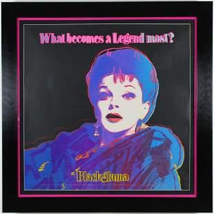 """Andy Warhols - """"Blackglama (Judy Garland), II.351"""""""