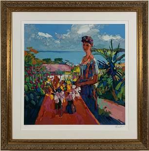 Nicola Simbari - Verandah - Framed Limited Edition