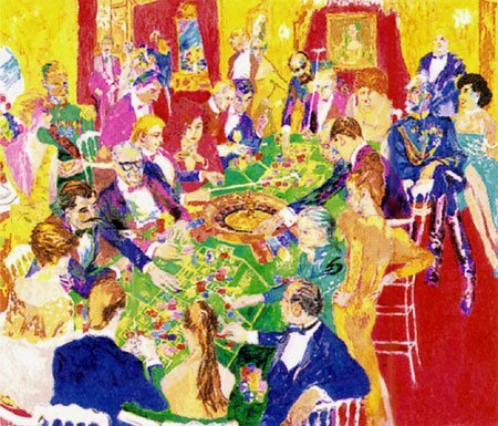 """""""Baden-Baden"""" by LeRoy Neiman.  SN 25/375.  Awesome"""