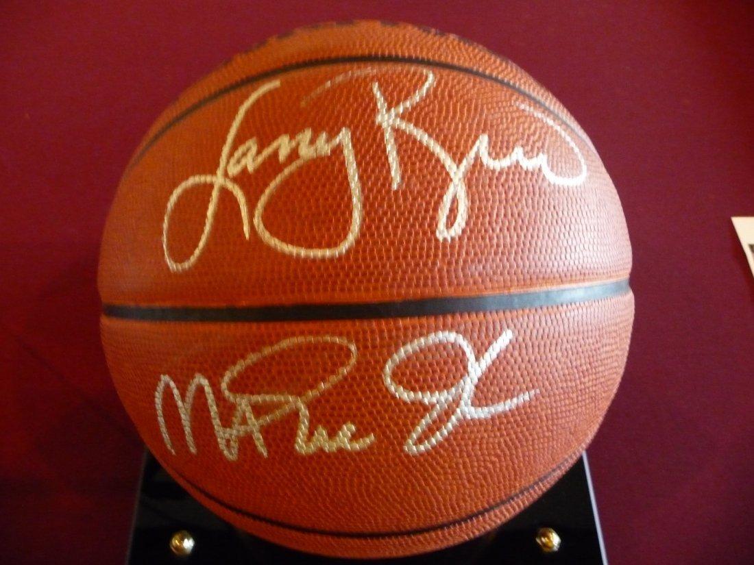 Magic Johnson and Larry Bird Autographed Basketball