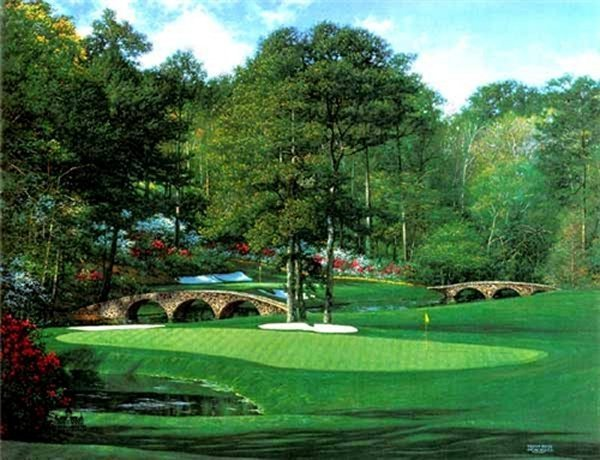 """""""The 11th at Augusta"""" by Larry Dyke"""