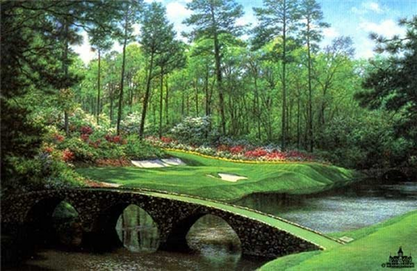 """""""The Twelfth at Augusta"""" by Larry Dyke"""