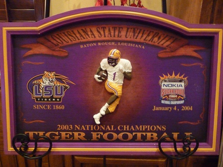 LSU 2003 National Championship Plaque.