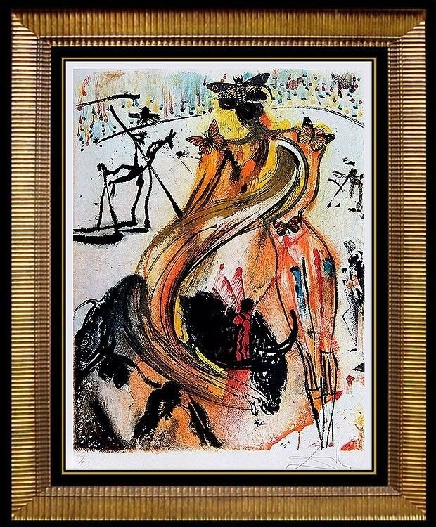 """""""Bullfighter"""" signed by Salvador Dali. - 195/250"""