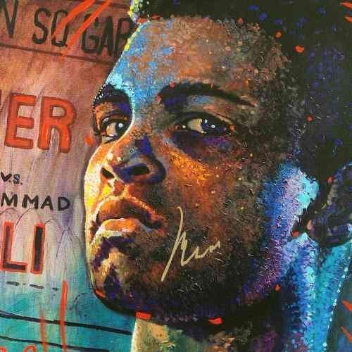 """Fight Night"" Muhammad Ali ONE-OF-A-KIND Mixed Media"