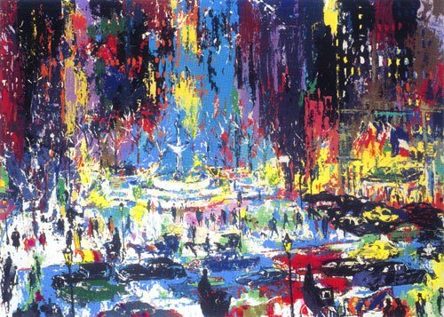 """""""Plaza Square"""" by LeRoy Neiman SN 140/300 Mint"""
