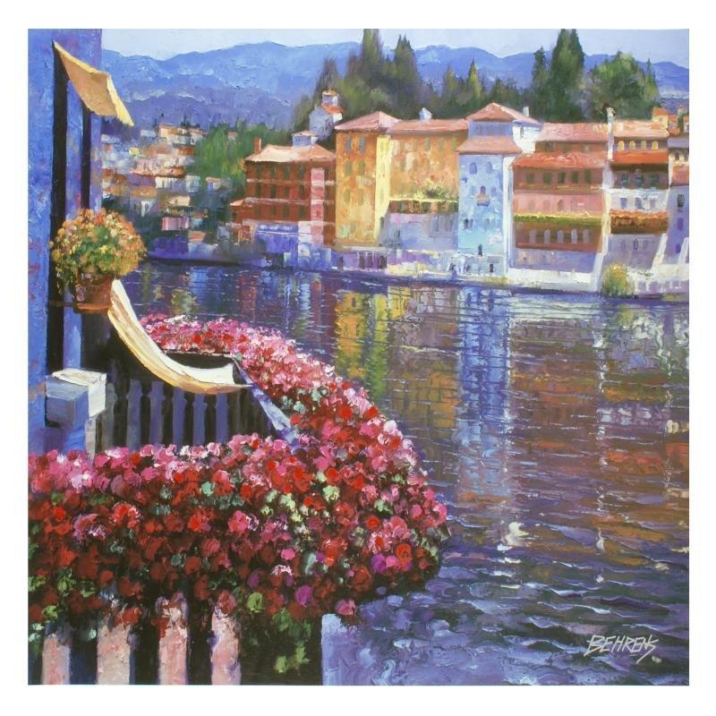 """""""Lakeside Balcony"""" LIMITED EDITION Hand-Embellished"""