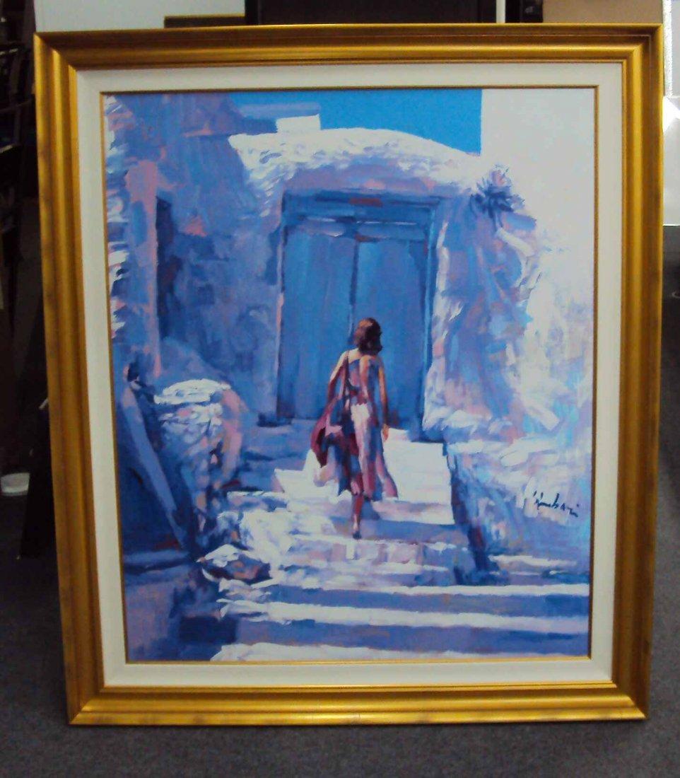 """The Blue Door"" and AMAZING ORIGINAL by Nicola Simbari"