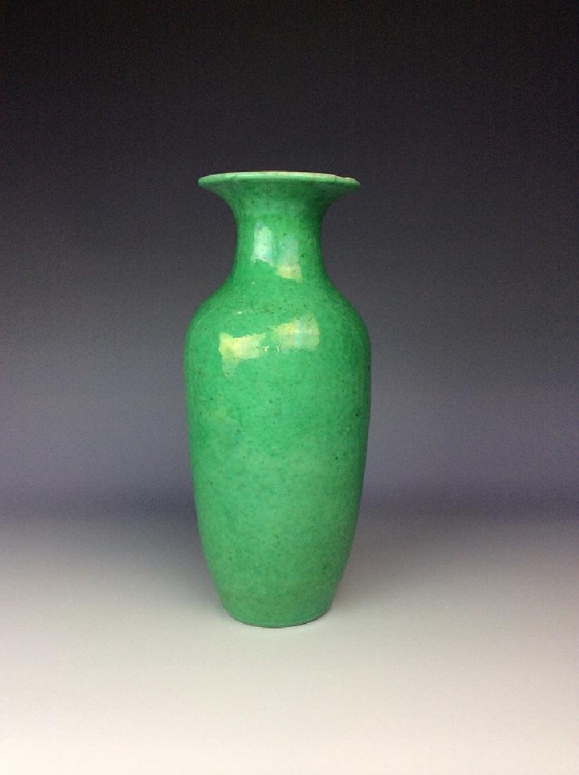 Chinese Lang Kiln green glazed porcelain vase.
