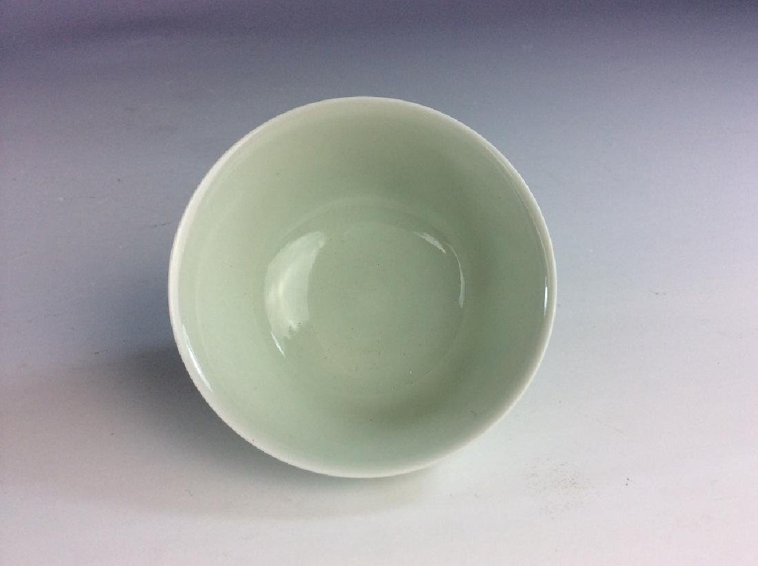 Fine Chinese porcelain cup, Doucai on white glazed, - 5