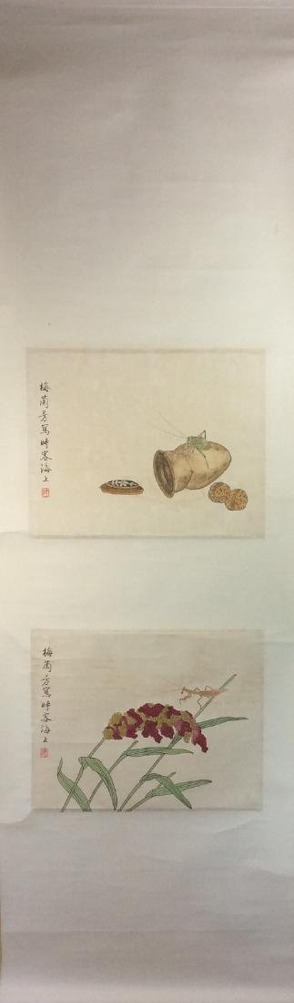 Chinese painting, hand painted leaves, 8 ndividual - 2