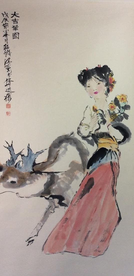 Chinese painting, hand painted scroll,