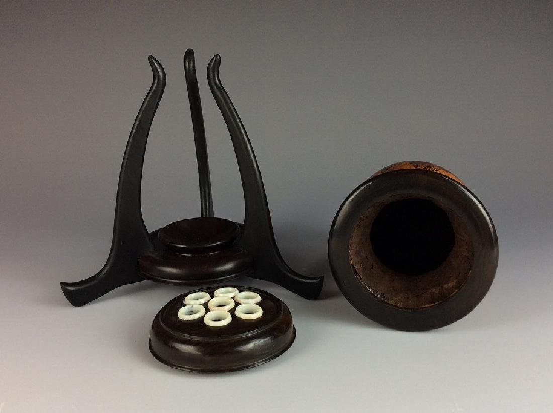 Rare Chinese Gourd Bottle Cricket Cage with Stand - 8