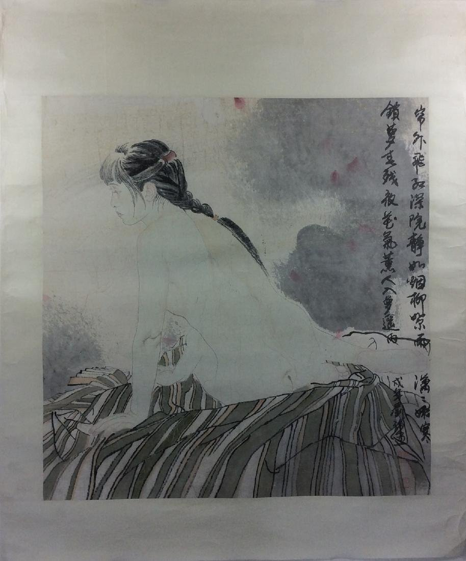 Chinese painting, hand painted scroll, ink and colors - 2