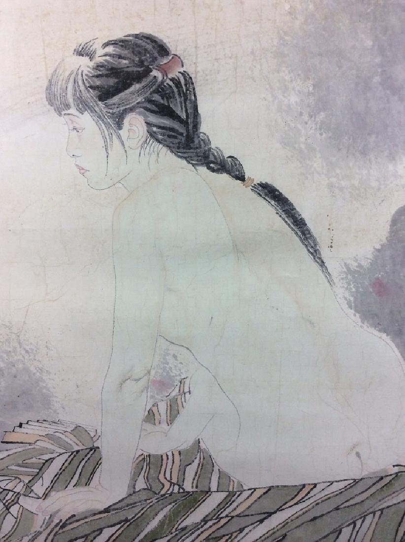 Chinese painting, hand painted scroll, ink and colors - 5