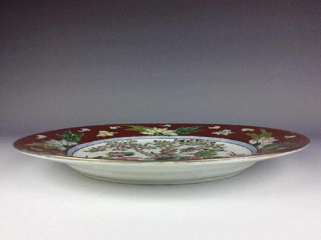 Chinese export porcelain plate painted with phoenix and - 3