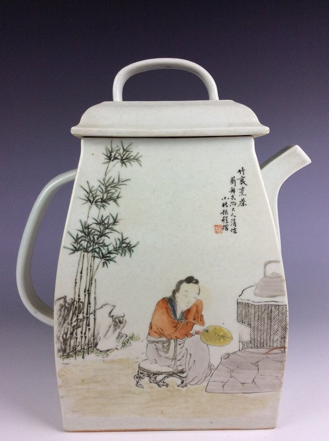 Important piece of Chinese Polychrome Overglazed