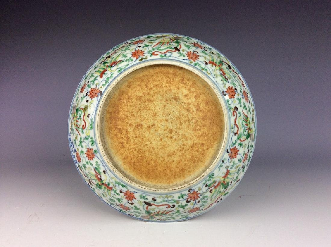 Fine Chinese porcelain plate, Douci glazed green galzed - 3