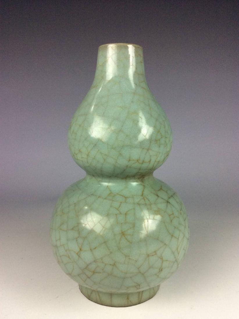 Song Guan style Chinese porcelain vase, moon white