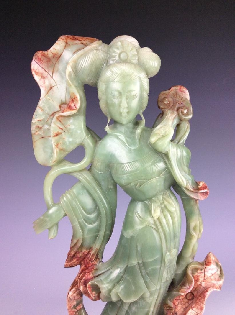 Chinese stone / jade, carved beauty figure - 3
