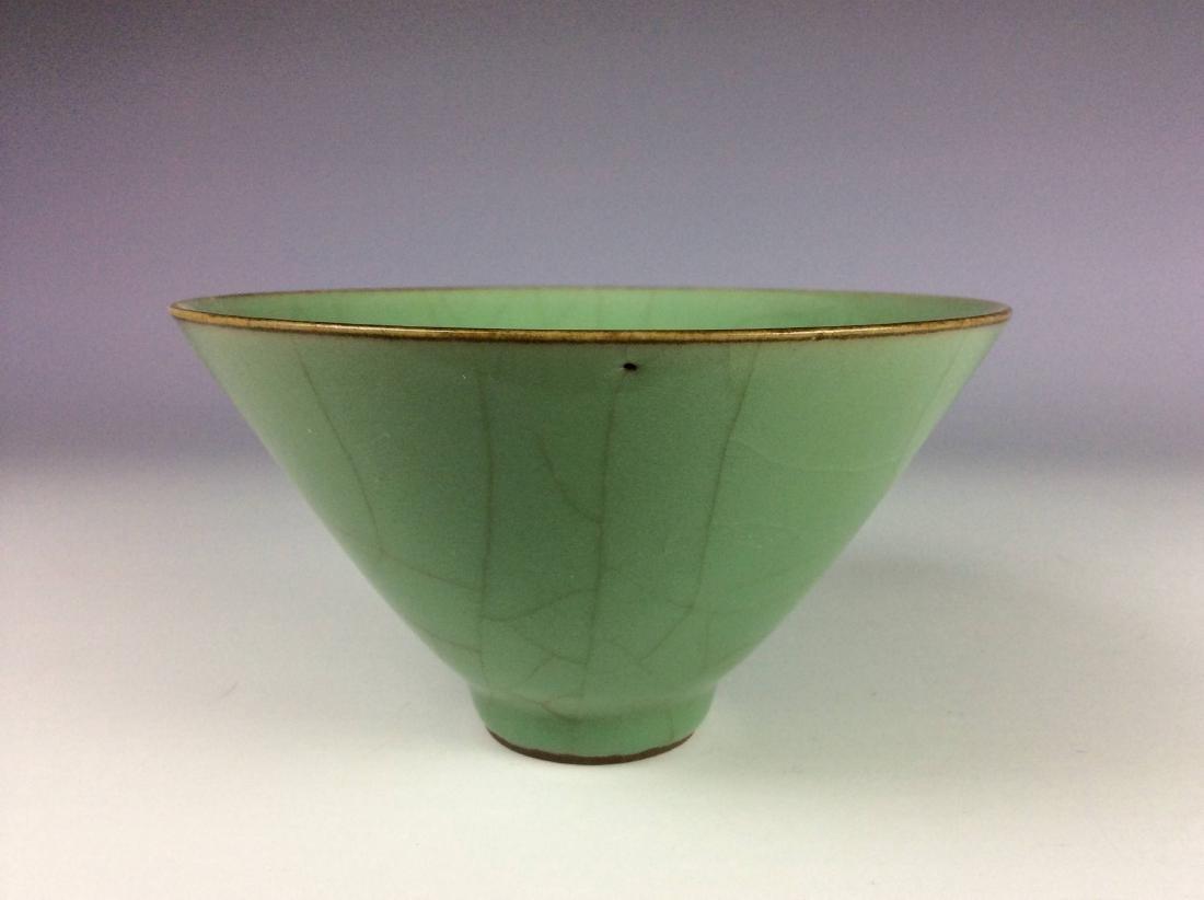 Chinese celadon crackled glaze bowl. - 2