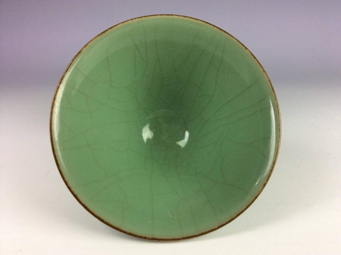 Chinese celadon crackled glaze bowl. - 3