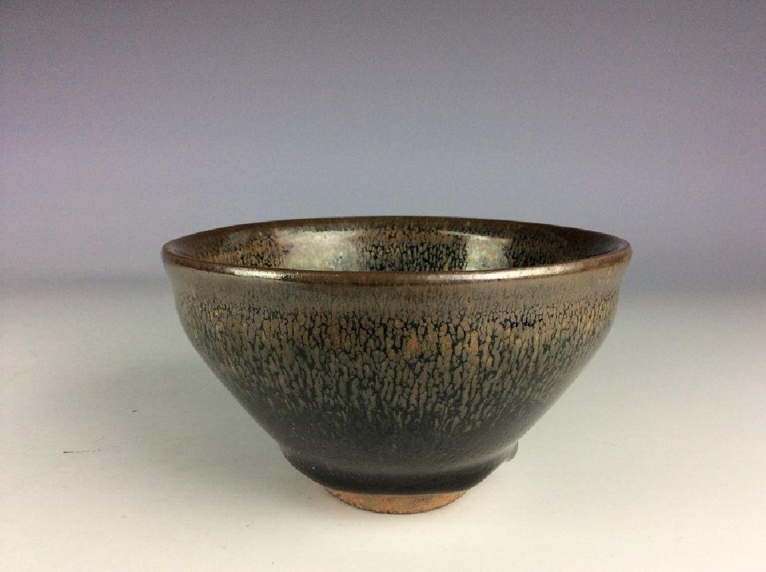 Fine Chinese Jian kiln tea bowl with hare's-fur glaze - 2