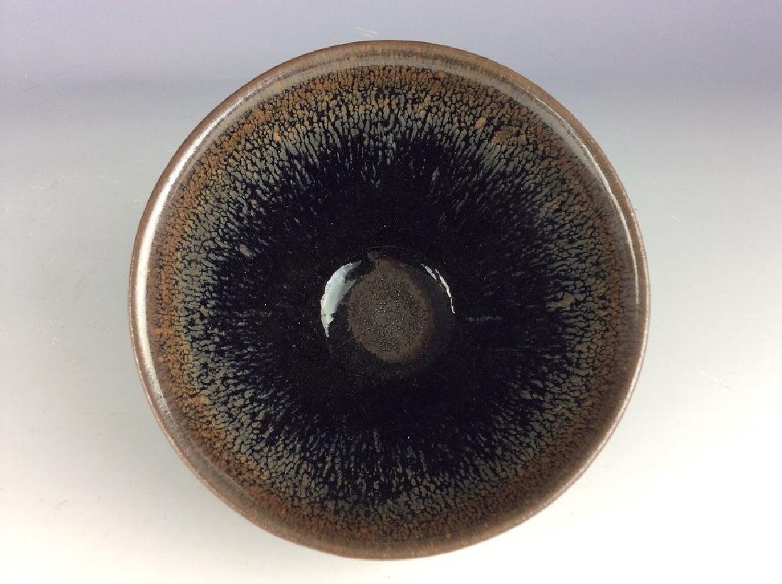 Fine Chinese Jian kiln tea bowl with hare's-fur glaze - 3