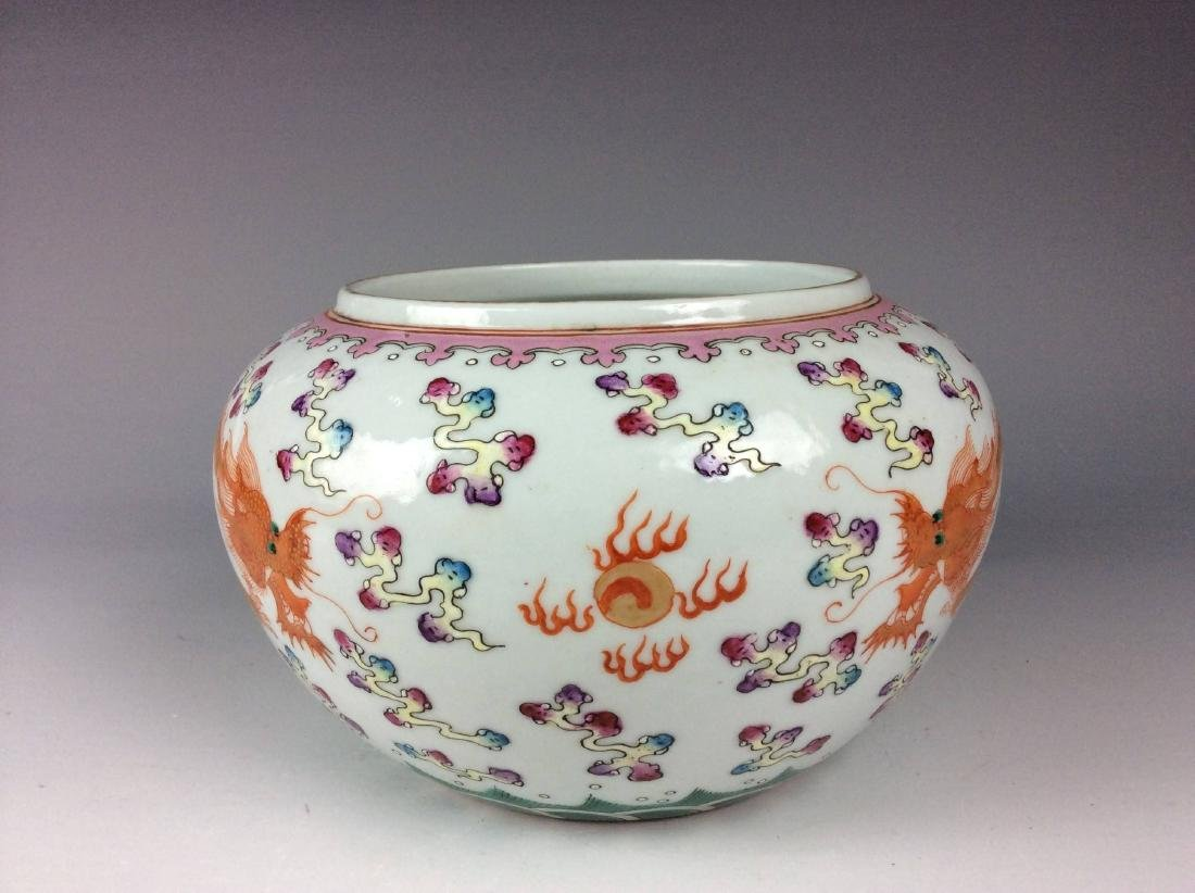 Chinese porcelain pot, famille rose, decorated with - 2