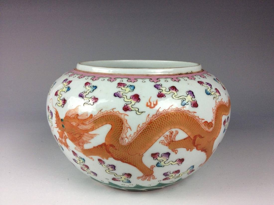 Chinese porcelain pot, famille rose, decorated with - 3