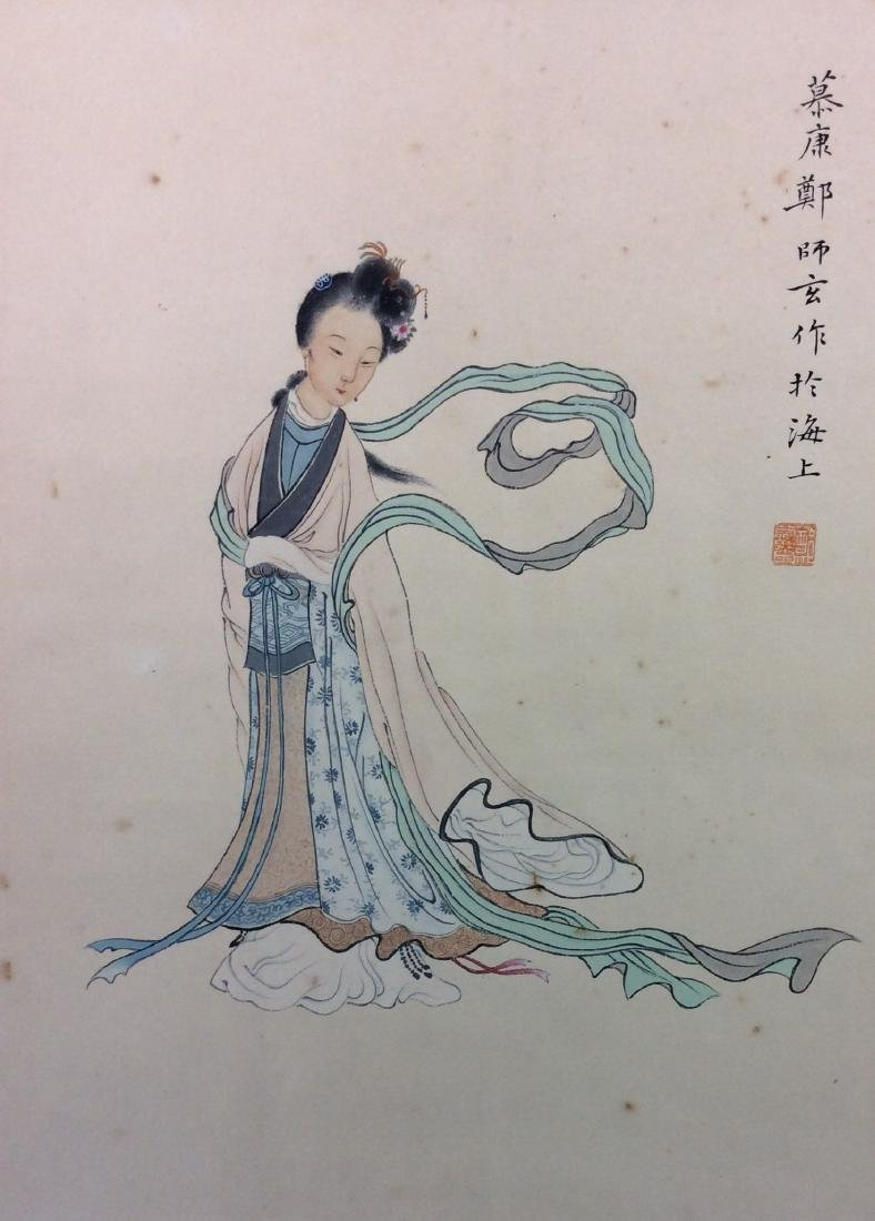 Chinese hand painted painting scroll