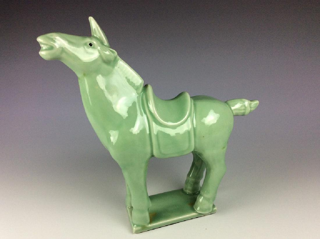 Chinese celadon statue of horse