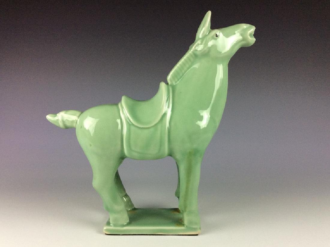 Chinese celadon statue of horse - 2