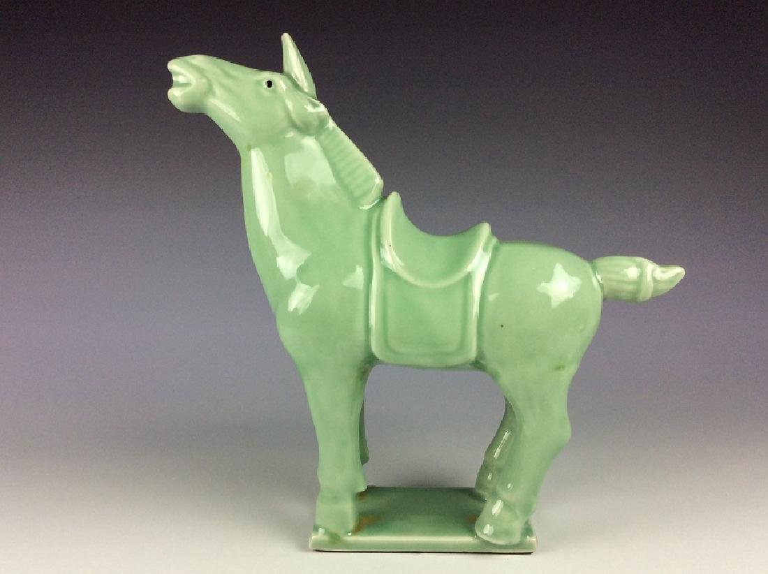Chinese celadon statue of horse - 3