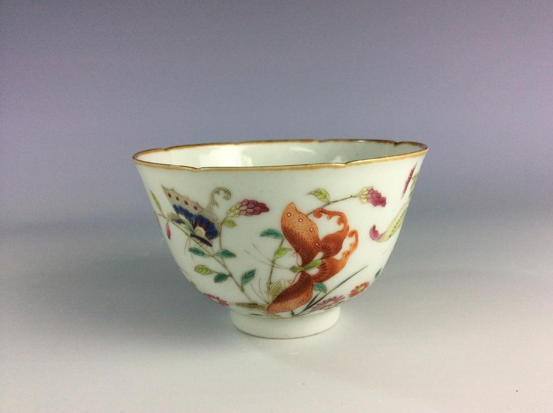 Chinese famillie rose  bowl with butterflies and