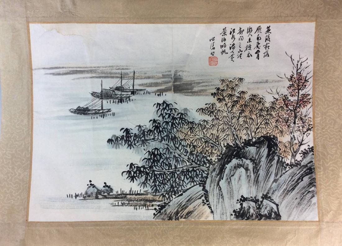 Fine Chinese painting leave