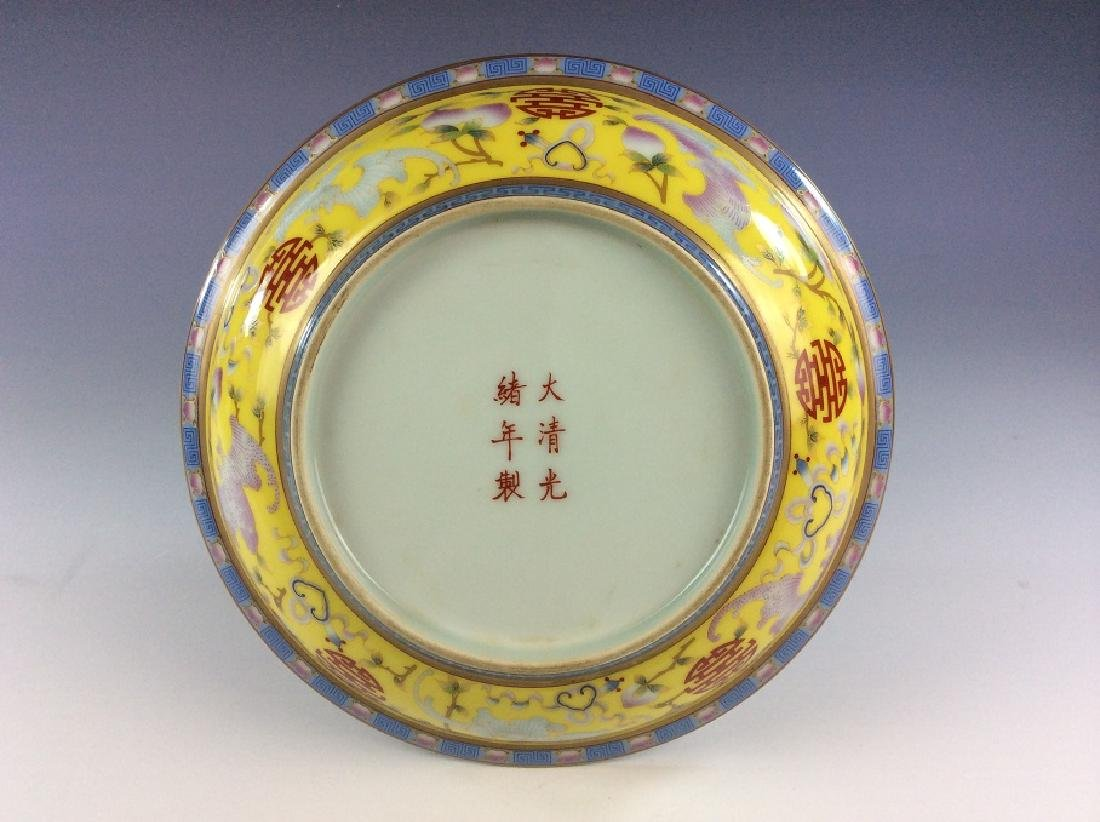 Antique Chinese plate  with  bat and peach - 2