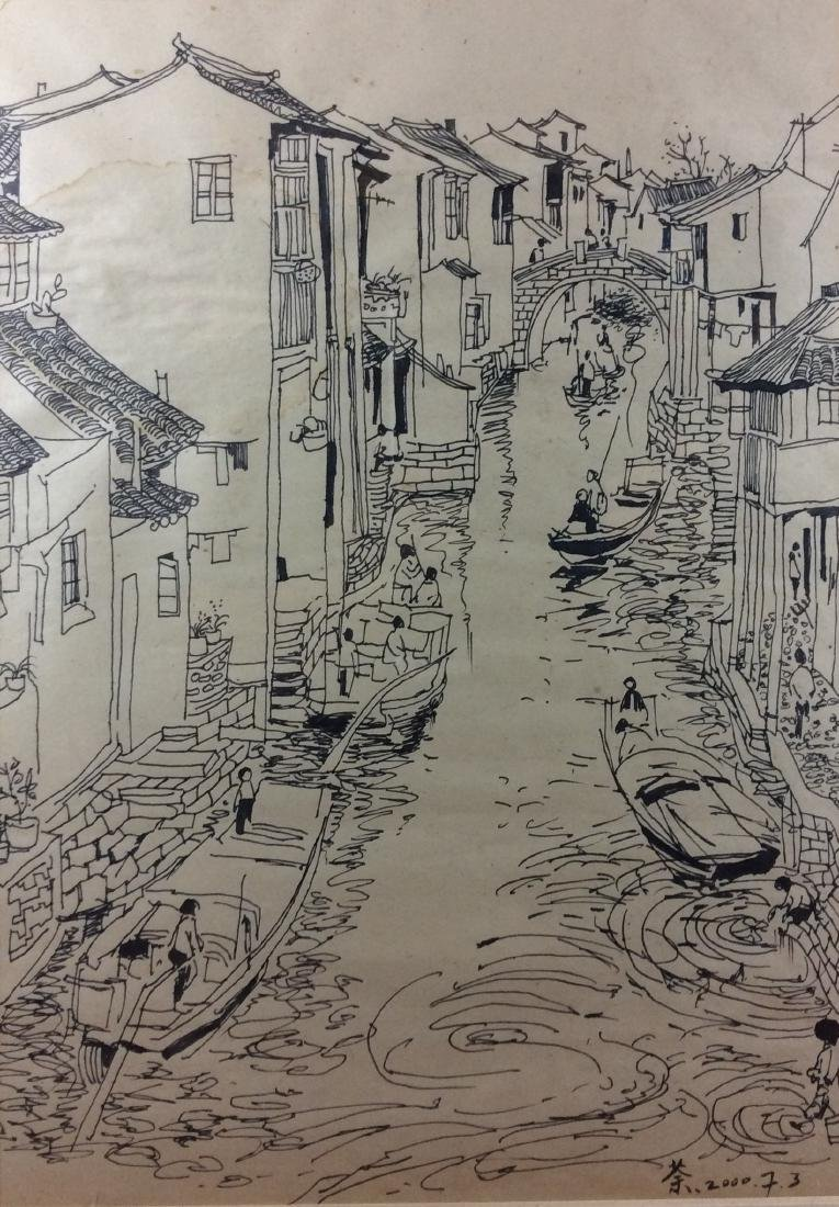 Chinese painting, hand painted, sketch on paper.